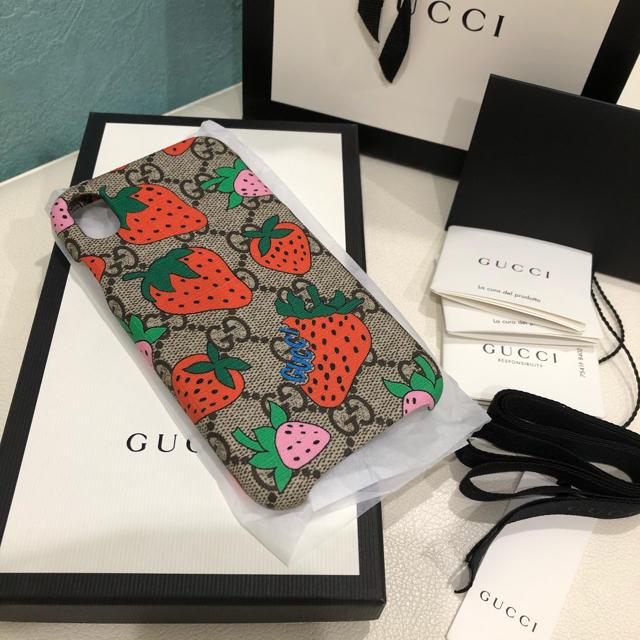 Gucci - 新品!1点のみ!! グッチストロベリーiPhoneXRケースの通販
