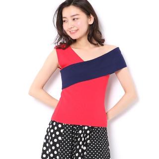 アンドクチュール(And Couture)のand couture 配色ワンショルプルオーバー(シャツ/ブラウス(半袖/袖なし))