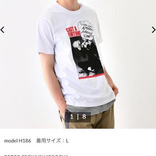 ロデオクラウンズワイドボウル(RODEO CROWNS WIDE BOWL)のロデオクラウンズ Tシャツ メンズ用M ホワイト(Tシャツ/カットソー(半袖/袖なし))