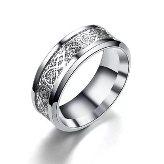サージカルステンレス指輪リング 龍紋柄 アレルギー対応(リング(指輪))