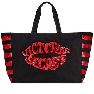 ヴィクトリアズシークレット(Victoria's Secret)のVictoria's secret スパンコールロゴ ビッグサイズトート(トートバッグ)