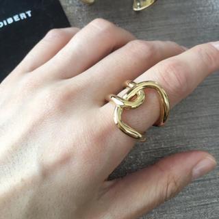 フィリップオーディベール(Philippe Audibert)の大ぶり クロス リング (ゴールド)(リング(指輪))