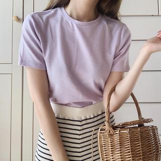 ロキエ(Lochie)のpastel purple tops(カットソー(半袖/袖なし))