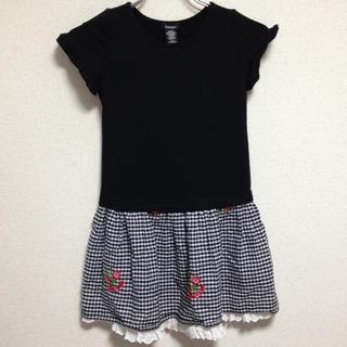 コストコ(コストコ)のZUNIE ガールズ ワンピース 130~140cm ブラック チェック 刺繍(ワンピース)