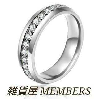 送料無料4号クロムシルバースーパーCZダイヤステンレスフルエタニティリング指輪(リング(指輪))
