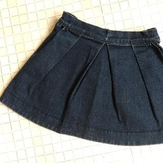 ボンポワン(Bonpoint)の☆ボンポワン キッズ4 デニムスカート ネイビー オールシーズン♪(スカート)