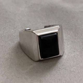 シルバー925ブラックオニキスカレッジリング シルバーリング  (リング(指輪))