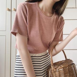 ロキエ(Lochie)のsalmon pink tops(カットソー(半袖/袖なし))
