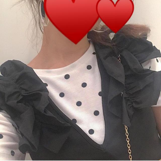 ZARA(ザラ)のZARA ドットカットトップス レディースのトップス(カットソー(半袖/袖なし))の商品写真