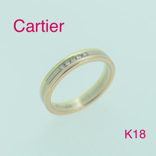 カルティエ(Cartier)の☆大人気☆カルティエ  スリーカラートリニティリング  K18   ダイヤ 5P(リング(指輪))