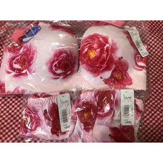 エメフィール(aimer feel)のaimerfeel 超盛り フラワー ピンク D75 ブラ&ショーツ2枚セット(ブラ&ショーツセット)