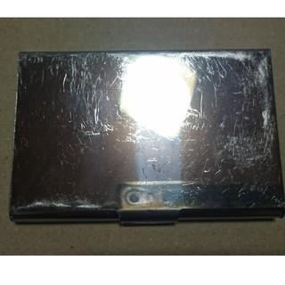 ムジルシリョウヒン(MUJI (無印良品))のステンレス製 名刺入れ カードケース(名刺入れ/定期入れ)