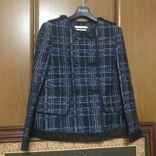フォクシー(FOXEY)の【新品タグ付、半額以下】FOXEYチェックジャケット79920円(テーラードジャケット)