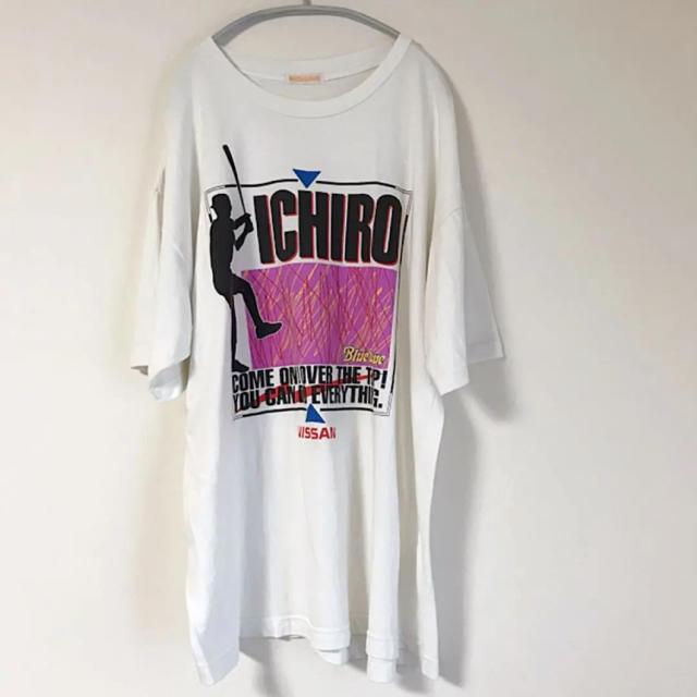 日産(ニッサン)のレア! イチロー Tシャツ NISSAN 日産 Blue Wave メンズ 古着 メンズのトップス(Tシャツ/カットソー(半袖/袖なし))の商品写真