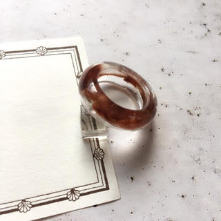 クリアリング  ⁎⁺˳✧༚  約 13号 ☆ ブラウン べっ甲(リング(指輪))