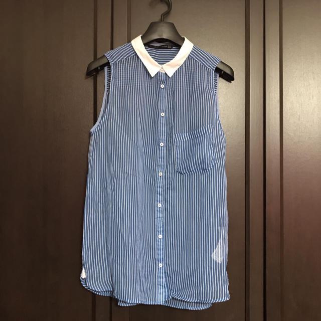 ZARA(ザラ)のノースリーブシャツ レディースのトップス(シャツ/ブラウス(半袖/袖なし))の商品写真
