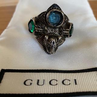 グッチ(Gucci)のGucci タイガーヘッド クリスタルリング  ミケーレ(リング(指輪))