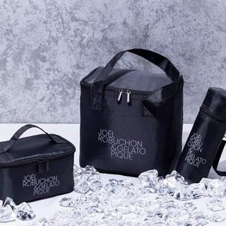 ジェラートピケ(gelato pique)のGLOW8月付録ジョエルロブション&ジェラートピケ保冷バッグ2点ドリンクホルダー(弁当用品)