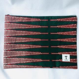 緑 クラッチバッグ アフリカ布 ハンドメイド バオバブ神戸(その他)