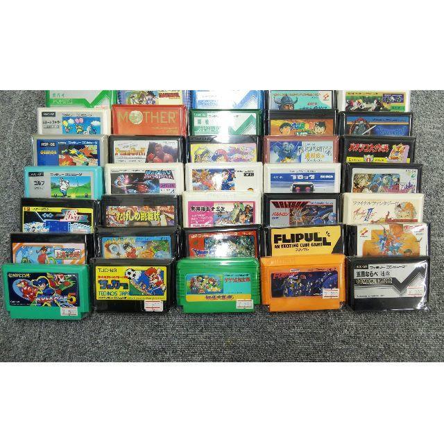 ファミコンカセット ダブりなしゲームソフト50本セット 接点復活済 起動確認済 エンタメ/ホビーのゲームソフト/ゲーム機本体(家庭用ゲームソフト)の商品写真