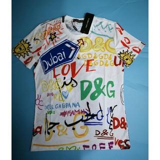 ドルチェアンドガッバーナ(DOLCE&GABBANA)の DOLCE&GABBANA Tシャツ カラフル 落書き 個性的 XL(Tシャツ/カットソー(半袖/袖なし))