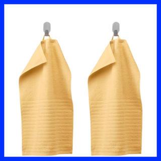 イケア(IKEA)の数量限定価格 ☆ IKEA ハンドタオル 2枚組 イエロー(タオル/バス用品)