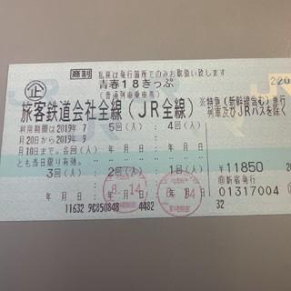 青春18切符 残り3回(鉄道乗車券)