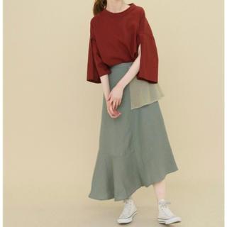ケービーエフ(KBF)の新品 KBF リネンMIXパッチスカート(ロングスカート)