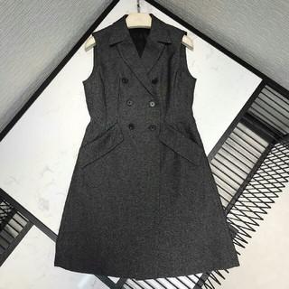 ディオール(Dior)の新作 美品ディオールDior ワンピース ドレス カーディガン 袖無し S(ひざ丈ワンピース)