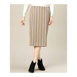ビューティアンドユースユナイテッドアローズ(BEAUTY&YOUTH UNITED ARROWS)のレジメンストライプタイトスカート BEAUTY&YOUTH(ひざ丈スカート)