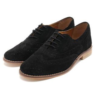 トゥモローランド(TOMORROWLAND)のReeneリーネ/パンチングスエードレザーオックスフォードシューズ(ローファー/革靴)