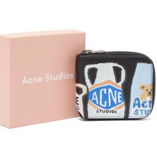 アクネ(ACNE)の【関税 送料込】ACNE STUDIO ロゴ ジップウォレット 折り財布(財布)