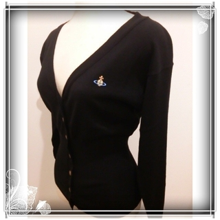 Vivienne Westwood - イタリア製 新品 ヴィヴィアン カーディガン 定価¥81,000 黒 オーブ