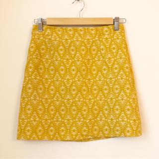 ザラ(ZARA)のZARA ♡ ジャカード ボックススカート(ミニスカート)