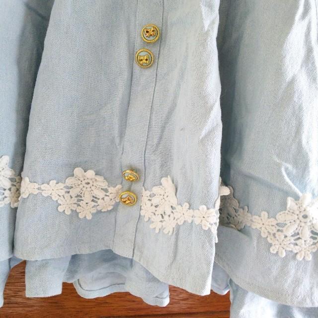 LIZ LISA(リズリサ)のリズリサ デニムフレアスカート レディースのスカート(ひざ丈スカート)の商品写真