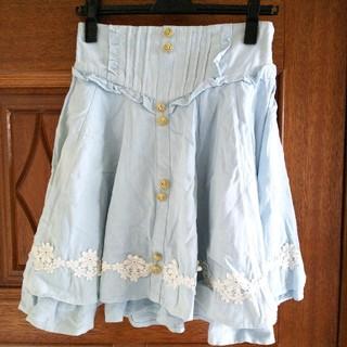 リズリサ(LIZ LISA)のリズリサ デニムフレアスカート(ひざ丈スカート)