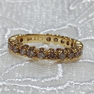 K18 フルエタニティー ダイヤリング 1カラット(リング(指輪))