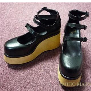 ジェーンマープル(JaneMarple)の週末限定値下げ中◎スリーストラップ 木底シューズ (ローファー/革靴)