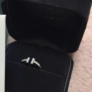 ティファニー(Tiffany & Co.)の❤️ティファニー☆Tワイヤーダイヤモンドリング✨美品✨(リング(指輪))