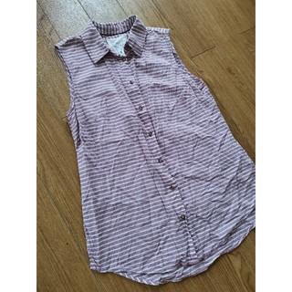 エイチアンドエム(H&M)のH&M♡ノースリーブ♡シャツ♡ボーダー(シャツ/ブラウス(半袖/袖なし))