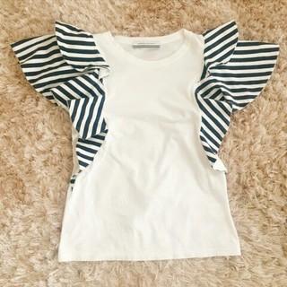 ドゥロワー(Drawer)のBorders at balcony★フリルTシャツ(Tシャツ(半袖/袖なし))