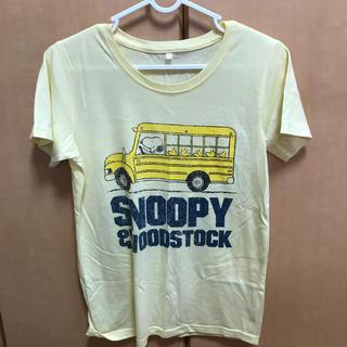 スヌーピー(SNOOPY)のスヌーピー Tシャツ レモン色(Tシャツ(半袖/袖なし))