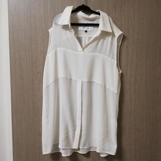 ルシェルブルー(LE CIEL BLEU)のLE CIEL BLEU ルシェルブルー ノースリーブシャツ ブラウズ シフォン(シャツ/ブラウス(半袖/袖なし))