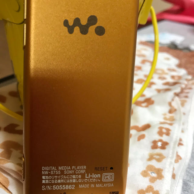 SONY(ソニー)のSONYウォークマン  純正イアホン付き  Bluetooth対応  美品 スマホ/家電/カメラのオーディオ機器(ポータブルプレーヤー)の商品写真