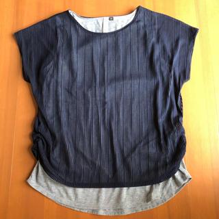 シマムラ(しまむら)のしまむら レイヤード風 カットソー LL(カットソー(半袖/袖なし))