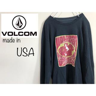 ボルコム(volcom)のレア!VOLCOM ボルコム USA製 黒 ロンt  tシャツ 長袖(Tシャツ/カットソー(七分/長袖))