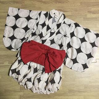 フタフタ(futafuta)のテータテート 浴衣 95 ドット(甚平/浴衣)