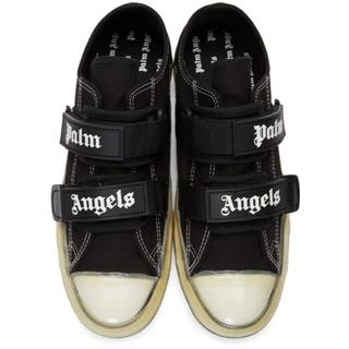 Palm Angels ブラック ベルクロ バルカナイズ スニーカー(スニーカー)