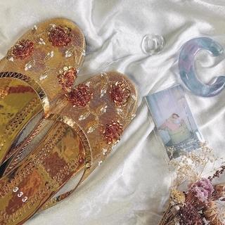 ミスティック(mystic)のベトナム サンダル 刺繍サンダル メッシュサンダル スリッパ 333(サンダル)