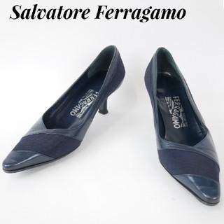 サルヴァトーレフェラガモ(Salvatore Ferragamo)のSalvatore Ferragamo  フェラガモ 4C ネイビー ハイヒール(ハイヒール/パンプス)